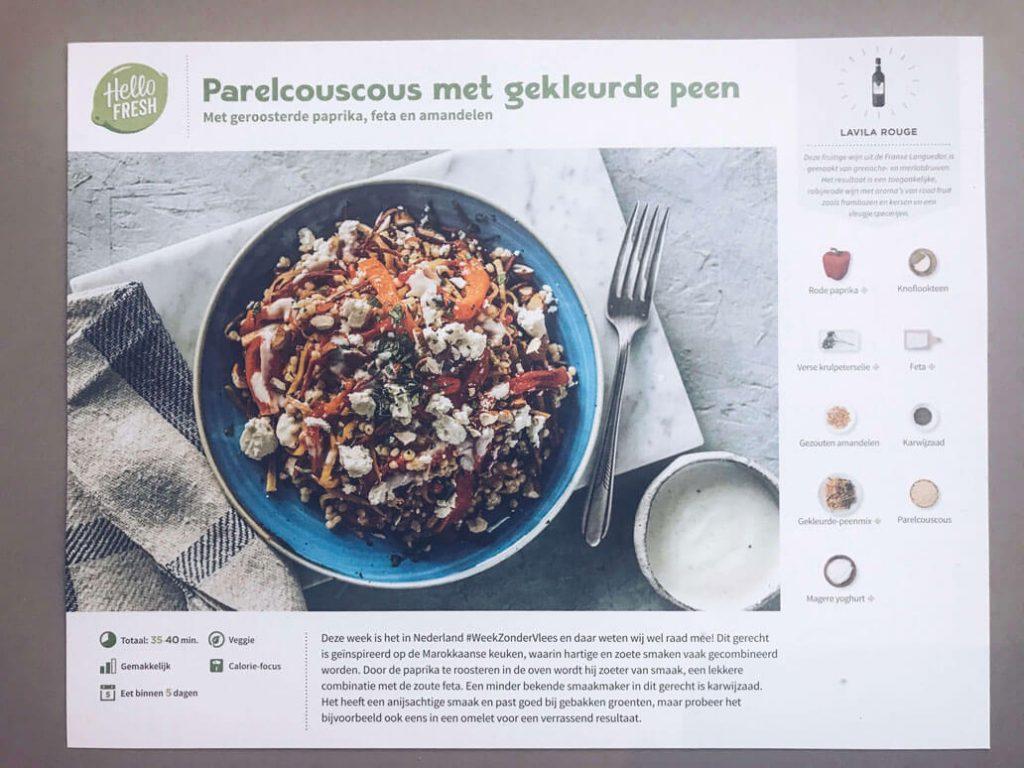 Gezonde recepten Hello Fresh - Instant Health